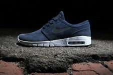 New ! Nike Stefan Janoski Max L 685299-401 Obsidian-Black-White Men's Sizes 8-14