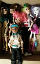 Monster High Doll large lot 14 dolls the high school and much more