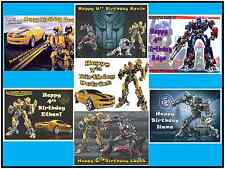EDIBLE CAKE IMAGE TRANSFORMERS ICING SHEET TOPPER BIRTHDAY PARTY & MORE