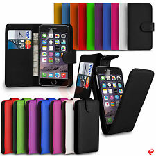 Premium Leather Wallet Flip Case Cover For Apple Phone + Screen Guard WL1