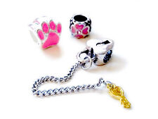 Crystal Silver Charms Beads Valentine Collection Fit Snake Charm Bracelet