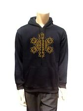 Mandala kabbalah Sign Men sweatshirt Psytrance BLACK Hoodie Long Sleeve Pocket