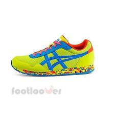 Shoes Asics Curreo D50QQ 8942 man running Lime Blue Fashion Moda Retrò