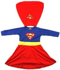 NEW Size 2~12 COSTUME SUPERGIRL PARTY BIRTHDAY DRESS UP GIRLS KIDS TOYS OUTFITS