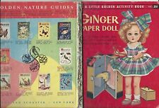 Ginger Paper Doll Little Golden Paper Dolls Activity & Story Book Rare 1957