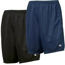 2 Pack Champion Mens 9'' Athletic Long Mesh Pocket Short Gym Basketball NEW S162