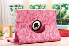 Pink 360 Rotating Leather Smart Case Cover Stand For Apple iPad Air/Mini/2 3 4