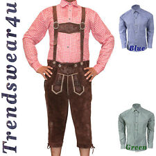 German Bavarian Trachten Oktoberfest Mens Wear Kniebund Lederhosen Package / Set