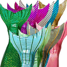 Mermaid sparkle tail girls swimmable tails (No Monofin) Cosplay Halloween