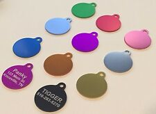 PET TAGS CUSTOM ENGRAVED DOUBLE SIDED PERSONALIZED ID DOG TAG CAT TAG