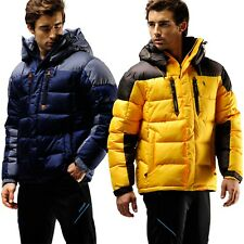 FUERZA Mens Winter Down Wellon Special Collection Hooded Heavy Duty Parka Jacket