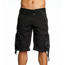Affliction Men's Last Days Embroidered Cargo Shorts Black 110WS088