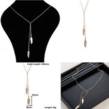 Leaf Shape Special Lady Tassel Necklaces Gold And Silver Pendant Noble Fashion
