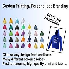 CUSTOM PRINTED HOODIES, PERSONALISED, TEAM, EVENT, PARTY, VARSITY, LEAVERS, UNI