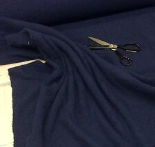 NAVY BLUE Cotton  Towelling Fabric Thick and Strong - Met or Half Met