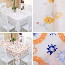 Hot Table Cover Flannel-Backed Wipe Clean PVC Vinyl Dining #G Kitchen Tablecloth
