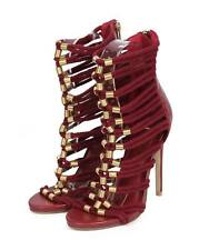 New Women Wild Rose Jersey-03 Mix Media Open Toe Caged Rope Gladiator Sandal Sz