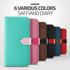 Lific Saffiano Flip Leather Wallet Diary Cover For Samsung Galaxy S6 S6Edge Case