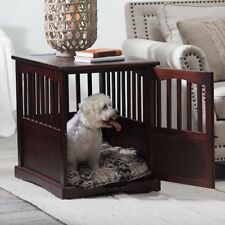 Wooden Pet Crate end table kennel cage furniture dog pen indoor house bed Small