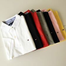 Tommy Hilfiger Polo Mens Classic Fit Knit Mesh Shirt Solid S M L XL New With Tag