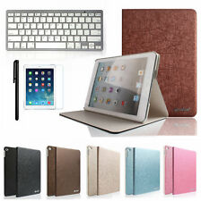 Luxury Ultra Slim Leather Case Cover+Bluetooth Keyboard For iPad Air 2 iPad 6