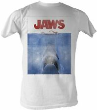 Classic Movie JAWS Poster White Adult T-shirt