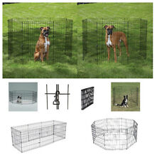 """Exercise Pens for Dogs & Pets SMALL Affordable 24"""" Black Wire Ex Pen Play Yard"""