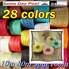 RAFFIA Paper RIBBON Tape Band Decorative Gift Wrapping Crafts Scrapbooks Flowers