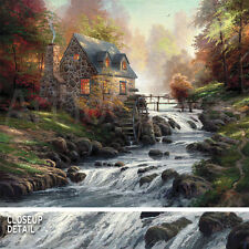 "42W""x35H"" COBBLESTONE MILL by THOMAS KINKADE - CHOICES of CANVAS"