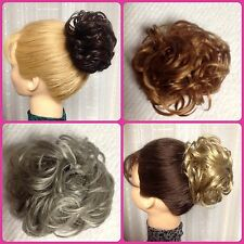 LACEY SCRUNCHIE MONA LISA BLACK RED BROWN BLONDE FROST Bun Pony Wrap PAGEANT