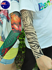 Women men Girl Boy Fake Tattoo Sleeves gloves Costume Halloween Rock Party prop
