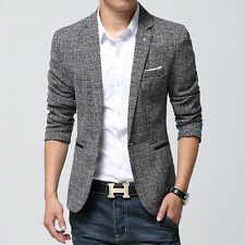 Flax Mens Stylish Slim Fit Blazers Spring Coats Suit Casual Clothes Coat Jackets