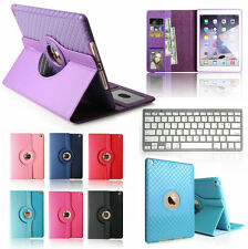 Bluetooth Keyboard+360 Rotating Leather Case Smart Cover For ipad air 2 ipad 6