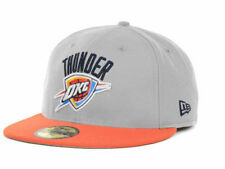 "Oklahoma City Thunder NBA New Era 59Fifty ""2 Tone"" Flat Bill Fitted Hat New"