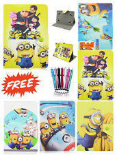 "Despicable me Universal Leather Stand Case Cover 7"" Inch Tab Android Tablet New!"
