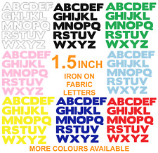 """IRON  ON die cut Fabric LETTERS! Approx size 1.5""""! in 14 Colours!"""