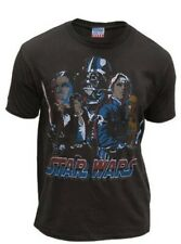 Junk Food Star Wars Red, White & Blue Rogues & Jedi Washed Black Mens T-shirt