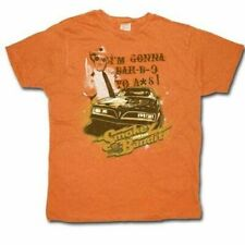 Adult Men's Comedy Film Smokey and the Bandit Bar-B-Q Your A*S Orange T-Shirt