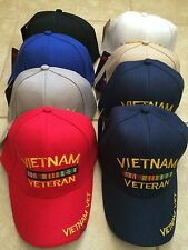 Vietnam Vet Baseball Cap - Veteran Hat - Choose Color - US Seller