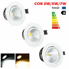 3W 5W 7W COB LED Recessed Ceiling Downlight Bombillas Lámparas+Driver dimmable
