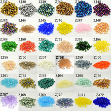 Wholesale Free shipping 100-1000 pcs 4mm #5301 Bicone glass crystal beads U Pick
