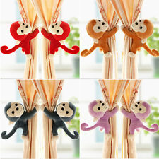 Baby Kid Nursery Bedroom Animal Monkey Window Curtain Tieback Buckle Holder Hook