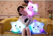 LED 7 Colour Changing Light Up Glow Mood Pillow Soft Cosy Relax Cushion Gift