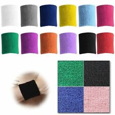1 Pair Unisex Sports Cotton Wristband Wrist Band Sweat Band Sweatband