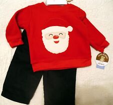 Carters Infant /Baby Boy Fleece top & pant 2pc Christmas Outfit newborn  NEW