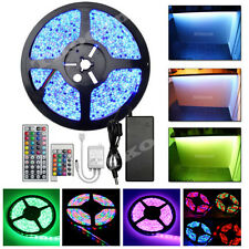 5-20M 300 LED 3528 5050 SMD RGB Strip Light Mood Lighting Colour Changing Roll