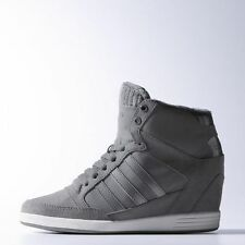 Womens Adidas Originals Neo Super Wedge Up Sneakers, Gray Selena Gomez F38578