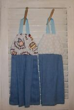 Mary Engelbreit Cup of Kindness Teapots Teacups Hanging Kitchen Towel Pair HCF&D