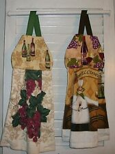 Grapes Wine Casks Corks Vineyard Chef Hanging Kitchen Dishtowel HCF&D