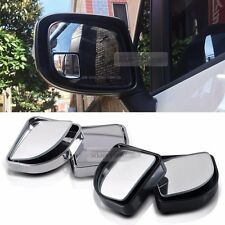 Side View Blind Spot Mirror Wide Angle Auxiliary Convex Black Silver for Vehicle